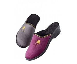 La Mia Pantoffels per 2 paar grijs & lila