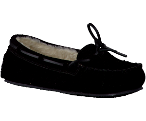 Zwarte Minnetonka pantoffel CALLY SLIPPER