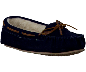 Blauwe Minnetonka pantoffel CALLY SLIPPER